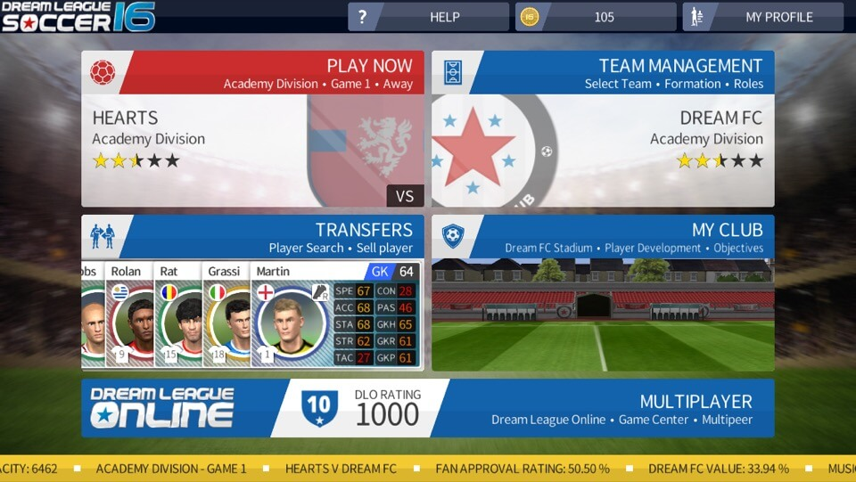 Dream League Soccer 2016 - Build Your Dream Team from Scratch on iOS